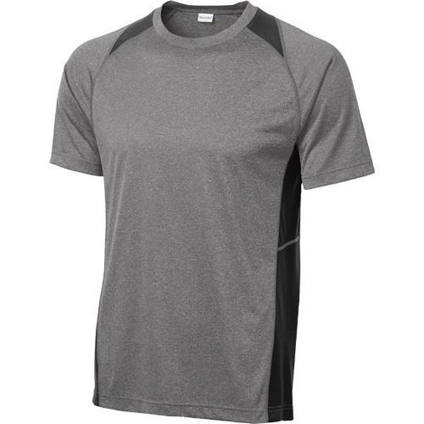 Picture of Sport-Tek Heather Colorblock Contender Tee